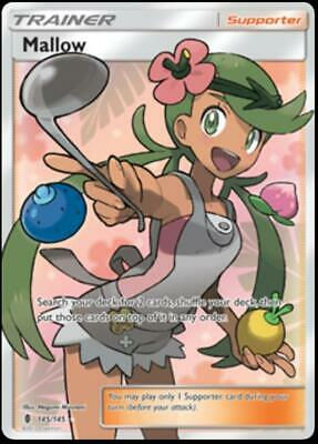 Mallow 145 NM Sun and Moon Guardians Rising Pokemon Card Tracked Shipping