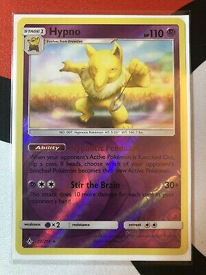 Pokemon HYPNO 72/214 Unbroken Bonds RARE Rev Holo - MINT