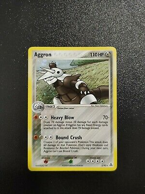 Pokemon Aggron Holo Legend Maker 2/92 MINT