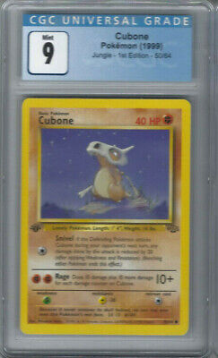 1999 Pokemon Jungle 1st Edition #50 Cubone Card - CGC 9 Mint