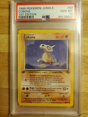 1st Edition Cubone **PSA 10** Pokemon JUNGLE 1999 WOTC #50
