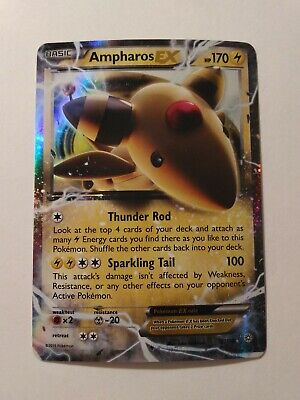 Ampharos EX 27/98 XY Ancient Origins Ultra Rare Lightning EX Holo Pokemon Card