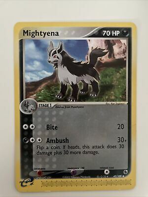 MIGHTYENA - 42/109 - EX Ruby & Sapphire - Uncommon - Pokemon Card ENG