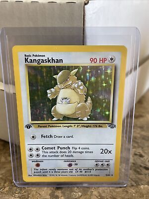 Pokemon 1st Edition Kangaskhan Holo 5/64 Rare 1999 Jungle Set Card - Excellent