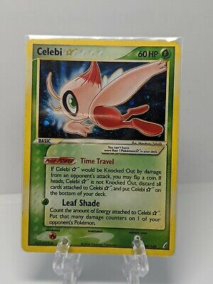 Pokemon Celebi Gold Star Good Condition Crystal Guardians Shiny Ultra Rare
