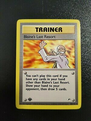 Pokemon Blaine's Last Resort 1st Edition NM/MINT 105/132 Gym Heroes