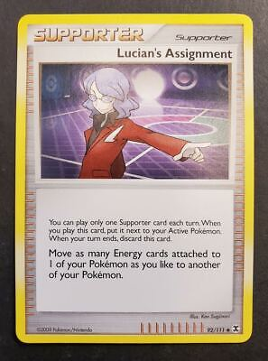 Pokemon Lucian's Assignment 92/111 Rising Rivals Common Mint/NM