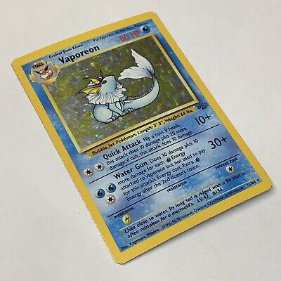 Vaporeon 12/64 Eevee Jungle Set Single Vintage 1999 Pokemon Card TCG