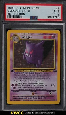 1999 Pokemon Fossil 1st Edition Holo Gengar #5 PSA 9 MINT