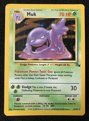 Pokemon Fossil Set MUK 13/62 Holo Foil, RARE CARD NM PSA READY