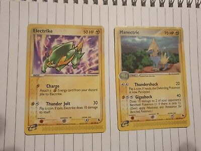Electrike And Manectric Ex Ruby And Sapphire pokemon cards