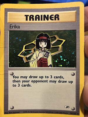 Erika Trainer Holo Gym Heroes Pokemon WotC HP, Check Pictures