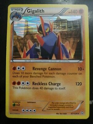 Holo Gigalith Pokemon Card (Dragons Exalted Set, 67/124, NM)