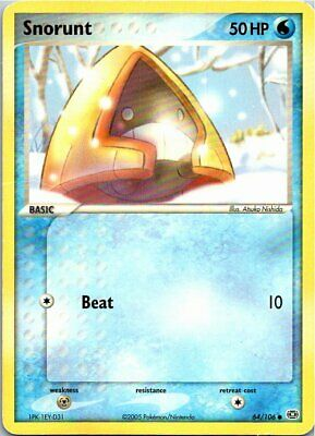 Snorunt 64/106 Common Regular Pokemon EX Emerald Light Play
