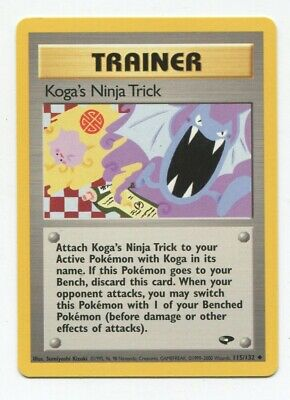 Pokemon Gym Challenge Koga's Ninja Trick 115/132 Nm-m Psa Worthy