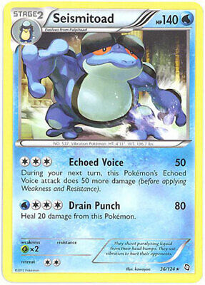 Pokemon Card - Dragons Exalted 36/124 - SEISMITOAD (rare) - NM/Mint