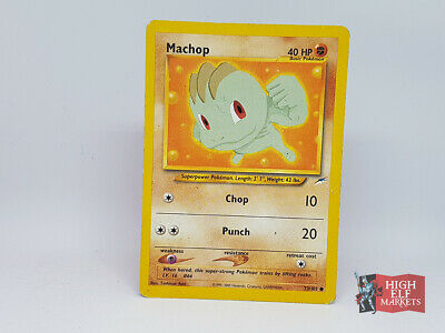 Machop 73/105 Pokemon Card Neo Destiny