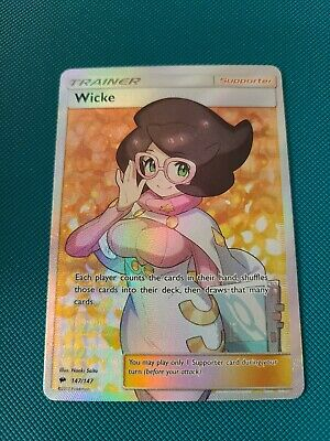 Wicke Full Art Trainer Burning Shadows Pokemon 147/147 NM