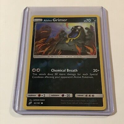 Alolan Grimer Pokemon Card Reverse Holo 83/181 Team Up 2019