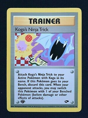 POKEMON Koga's Ninja Trick 115/132 1st edition - Gym Challenge Near Mint NM N/M