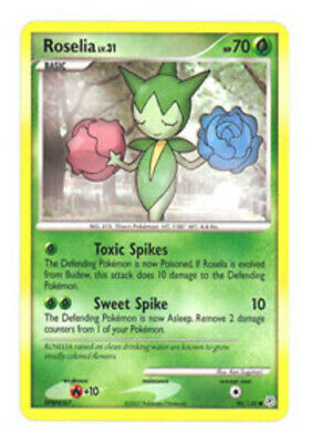 1x Roselia - 96/130 - Common - Reverse Holo Diamond & Pearl Pokemon Near Mint