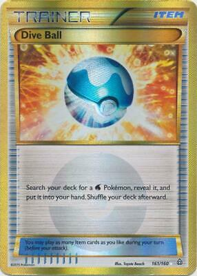 (XY05-161) Dive Ball (Gold) Ultra Rare Foil Pokemon XY Primal Clash Card # 161