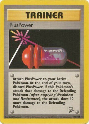 Pokemon Card - Base 2 Set 113/130 - PLUSPOWER (uncommon) - NM