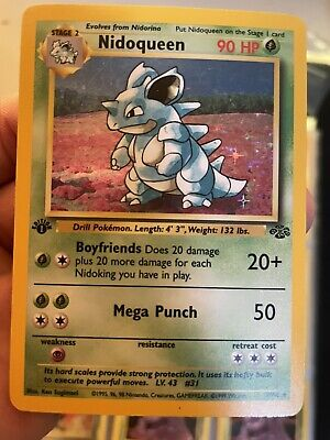 1st Edition Nidoqueen #7/64  Holo/Rare Jungle Pokemon Set (PSA Ready)