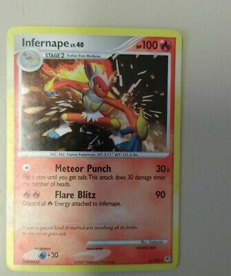 Pokemon Infernape 5/130 Diamond & Pearl Rare Holo MP
