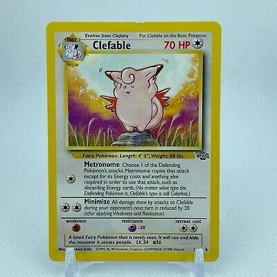 Clefable - 17/64 Jungle Set Rare Pokemon - NM/LP