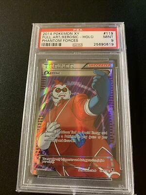 Pokemon XY Phantom Forces Xerosic Full Art Psa 9 Mint POP 24!!