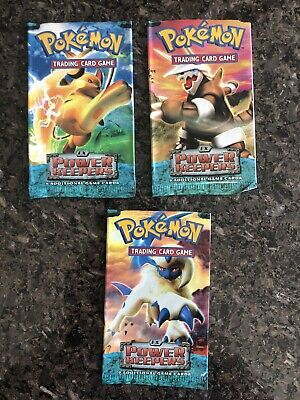 Pokemon Ex Power Keepers EMPTY Booster Pack Wrapper x3 Aggron Raichu Absol 2007