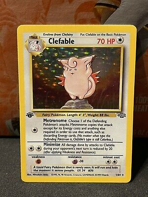 Pokemon 1st Edition Jungle Clefable 1/64 - Near Mint condition