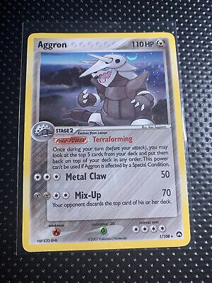 Pokemon EX Power Keepers Aggron 1/108 Holo Rare NM Card