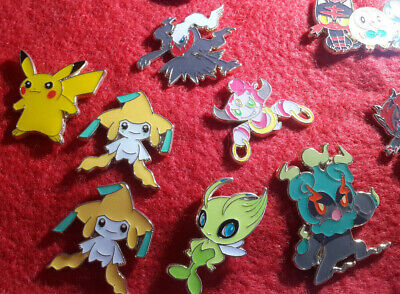 Pokemon TCG Official Pin Badges Pikachu Mew Shaymin Celebi Jirachi and more