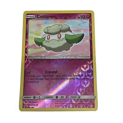 Cottonee 139/214 Sun & Moon Unbroken Bonds Common Mint/NM Pokemon Nintendo TCG