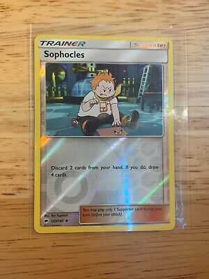 2017 Pokemon Sophocles Burning Shadows Trainer Reverse Holo 123/147 (GEM MT)