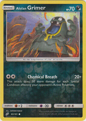 1x Alolan Grimer - 83/181 - Common - Reverse Holo Team Up Pokemon Near Mint