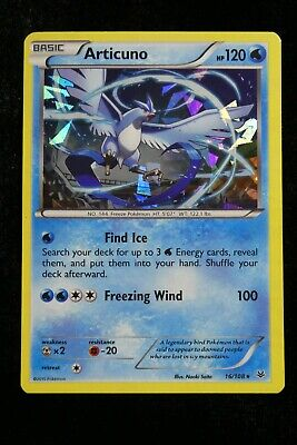 Pokemon Card Holo Articuno Roaring Skies 16/108 NM - Mint Est. PSA 8-9