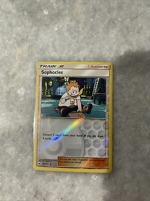 Pokemon TCG SM Burning Shadows - Sophocles 65/73 Reverse Holo Supporter