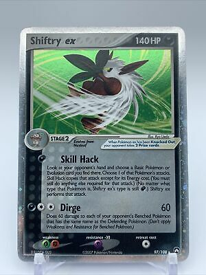 Shiftry EX Pokemon Card  EX Power Keepers 97/108  Holo NM great cond.