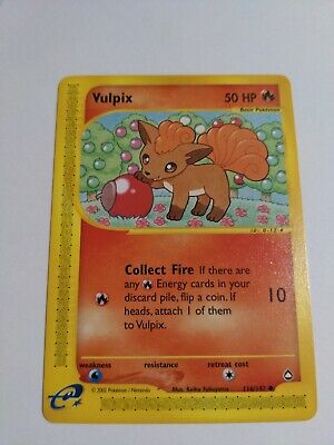 VULPIX - Aquapolis - 116/147 - Common - Pokemon Card - NM