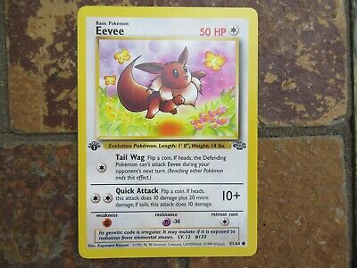 Vintage 1999 First Edition Jungle Pokemon Card #51/64 Eevee