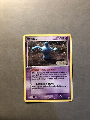 Wynaut 71/92 EX Legend Maker Stamped Holo Pokemon Card MP