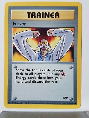 Fervor 124/132 LP Gym Challenge Pokemon Card $1 Flat Shipping
