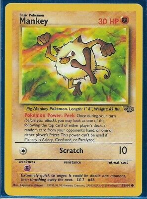 Pokemon - Mankey - Jungle 55/64 - Common - NM+