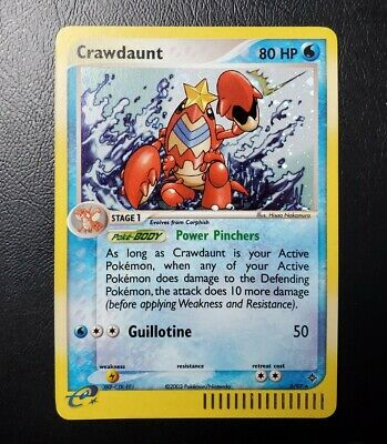 Crawdaunt EX Dragon (3/97) Rare Holo Near Mint Condition Pokemon Card