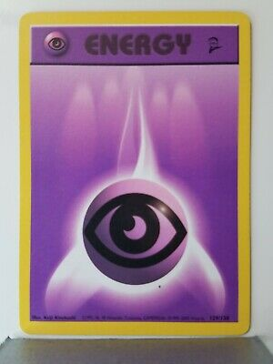 Psychic Energy 129/130 - LP - Base Set 2 Pokemon Card - $1 Combined Shipping