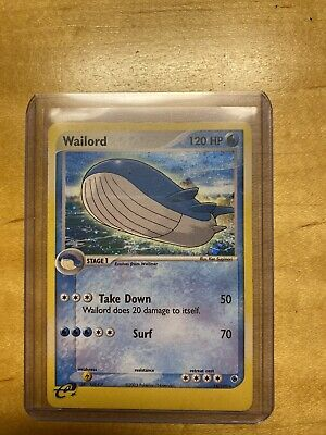 Wailord 14/109 Holofoil Rare Pokemon Card EX Ruby& Sapphire 2003 GREAT CONDITION
