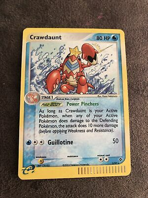 Pokemon Crawdaunt 3/97 EX Dragon Rare Holo Excellent Condition